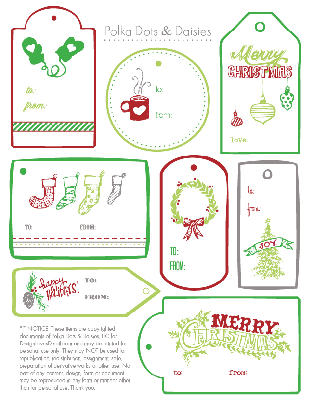 Free Printable Christmas Gift Tags Templates  Merry Christmas And