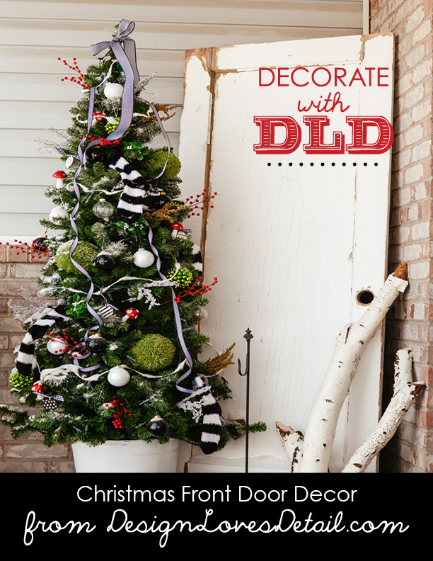 Christmas Front Door Decor11--DesignLovesDetail