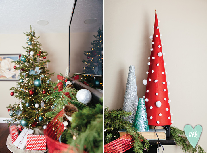 red white and turquoise christmas decor designlovesdetail holiday home tour02 - Red White And Turquoise Christmas Decor