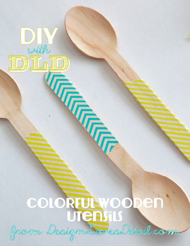 Colorful Wooden Spoon DIY by Design Loves Detail 09