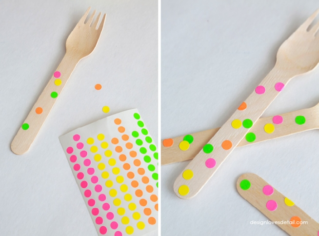 Colorful Wooden Utensil DIY by Design Loves Detail