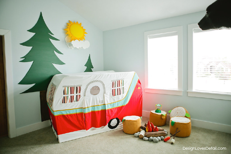 Oneroomchallenge camp lodge playroom reveal Land of nod playroom ideas