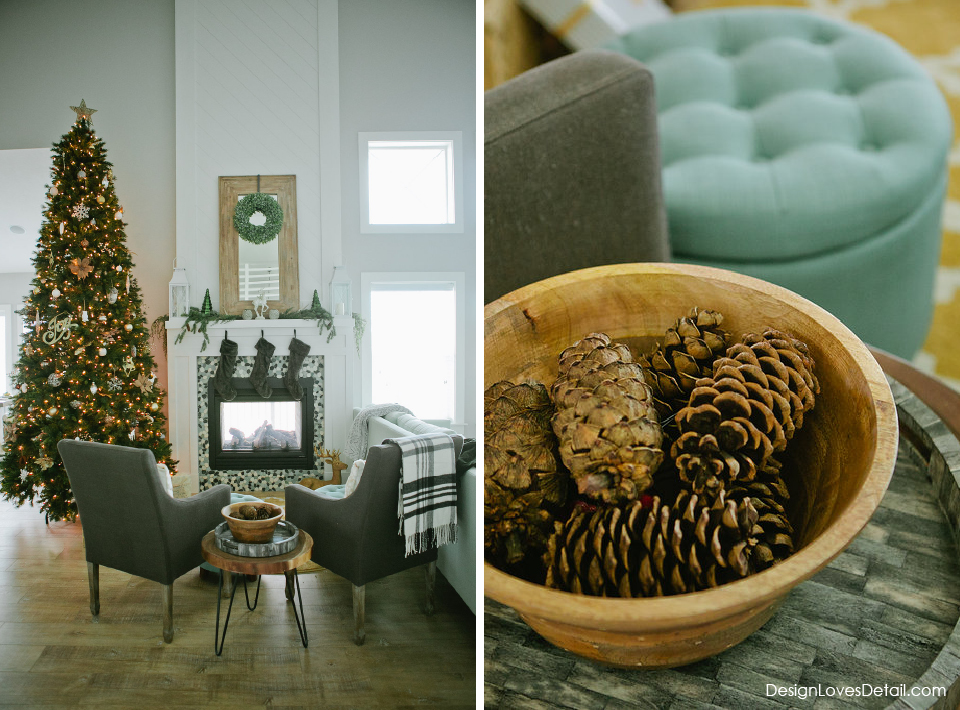 Natural, Cozy and Modern Christmas Decor! Love this Holiday Home Tour from Design Loves Detail.