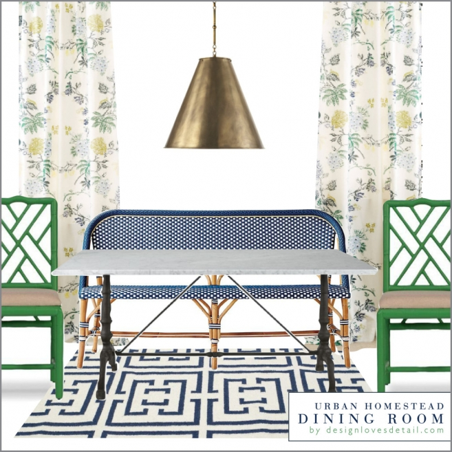 In love with this dining room concept by DesignLovesDetail.com! Her work is amazing. So fun & fresh, but unique too! Affordable e-design services.