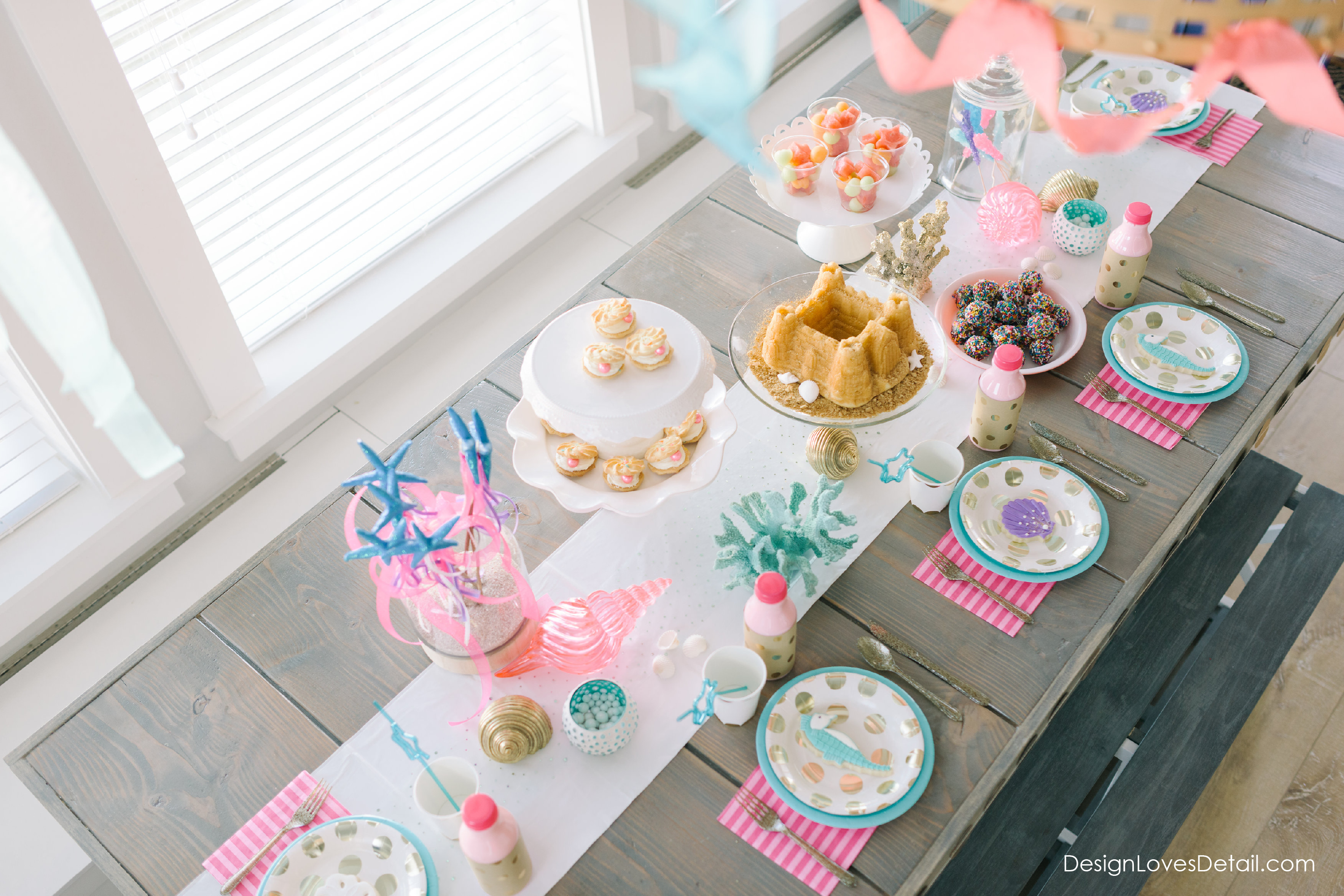 DIY Mermaid Birthday Party Ideas by Design Loves Detail!