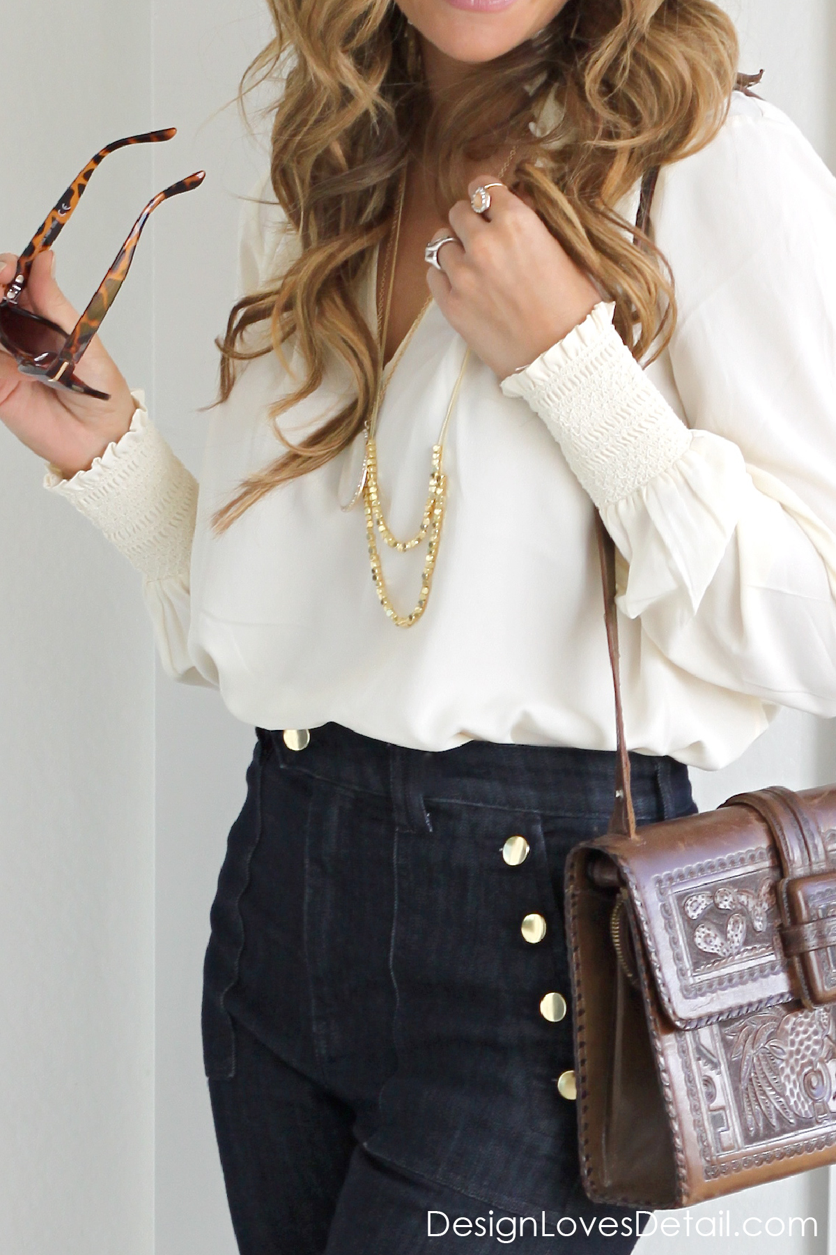 Fashion details. Accessories for this classy boho fashion
