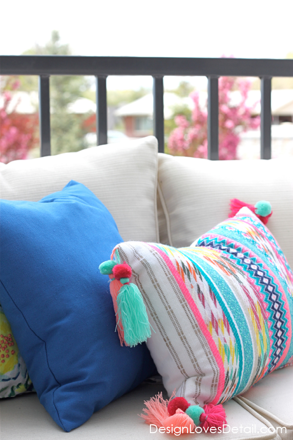 Colorful tribal pillows under $20! Links in blog post