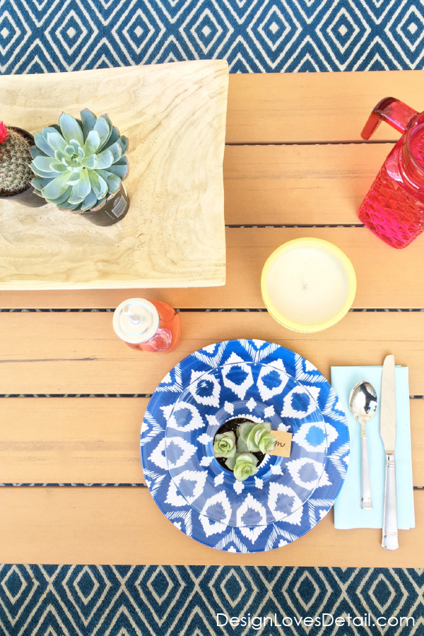 Colorful desert theme party and brunch on the patio ideas