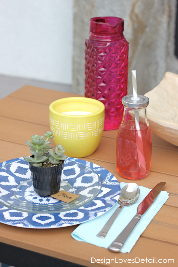 Cute & simple table setting ideas for summer and spring entertaining