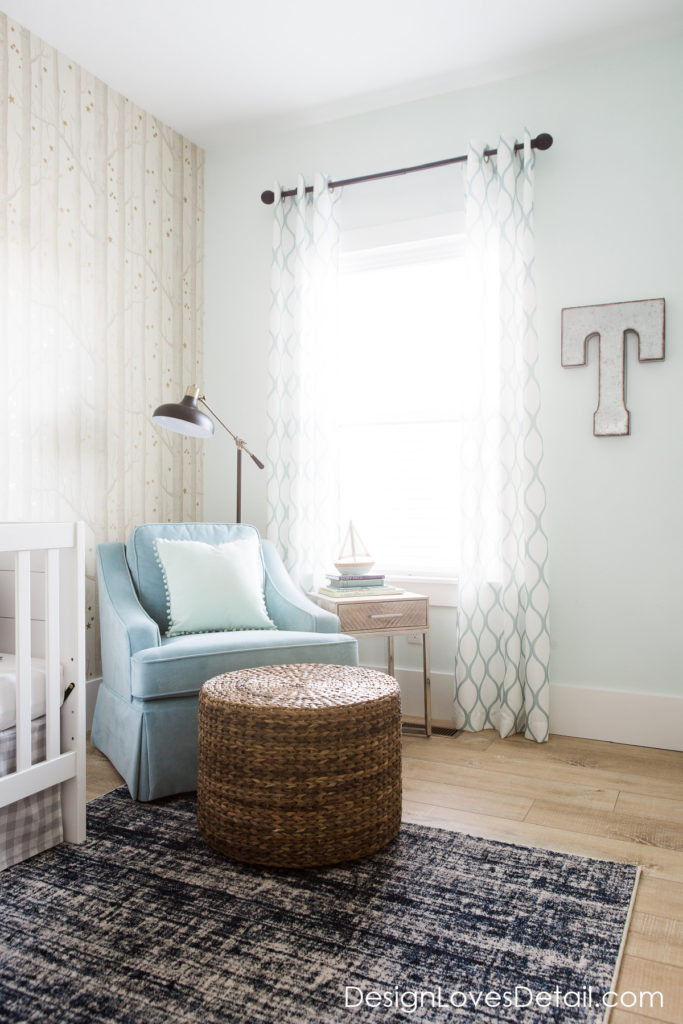 I'm loving this subtle modern nursery space on a budget! Great tips for saving money and having a high end look
