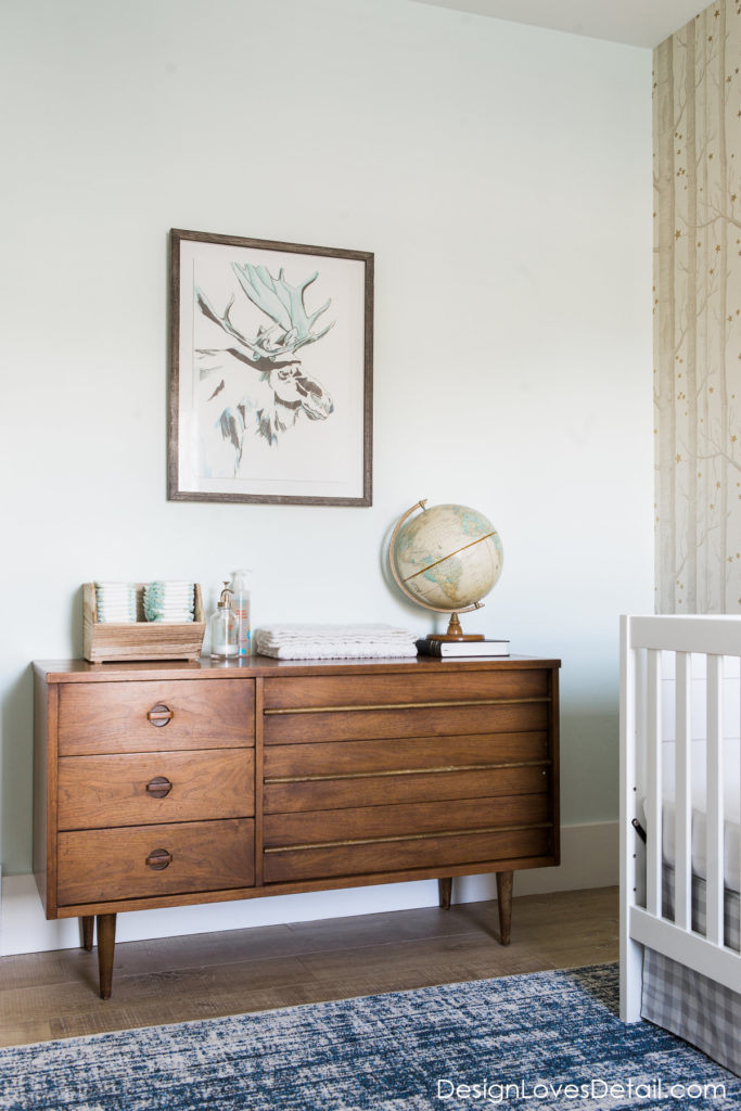 Such a cute and eclectic nursery space!