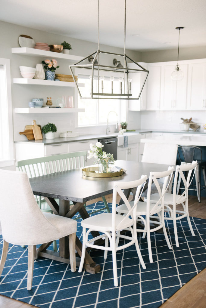 I adore this farmhouse dining room. The full house tour is on DesignLovesDetail.com today!