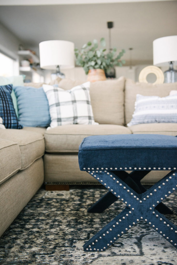 Love these x ottomans and this whole home tour is amazing! Product links are included at bottom of post. see more at DesignLovesDetail.com!