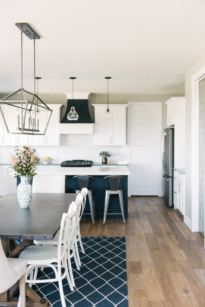 Beautiful modern farmhouse kitchen. See the whole house tour on DesignLovesDetail.com