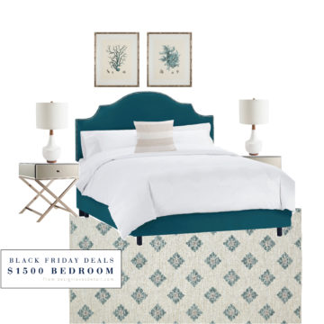Coastal Calm Bedroom-- can you believe this room only costs about $1500?!