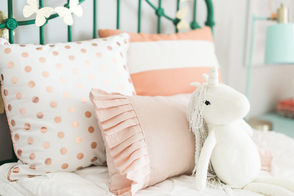 Cutest room! Love these colors for a girls room