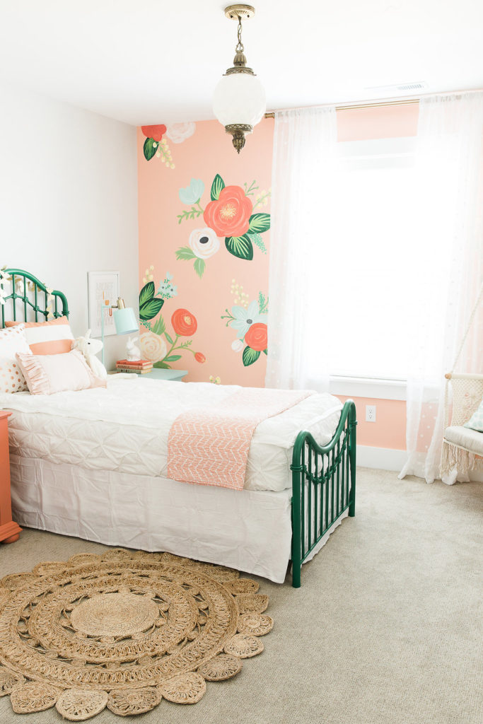 Room For Girls Design: Room Updates: Girls Floral Boho Bedroom