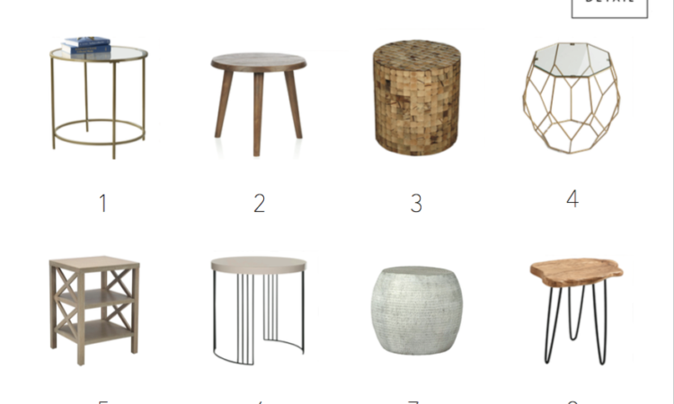 Affordable Stylish Trendy Side Tables, cheap side tables for every room and style