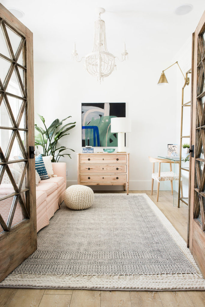 Incredible office makeover by design loves detail. loving the fresh, boho feel of this space.
