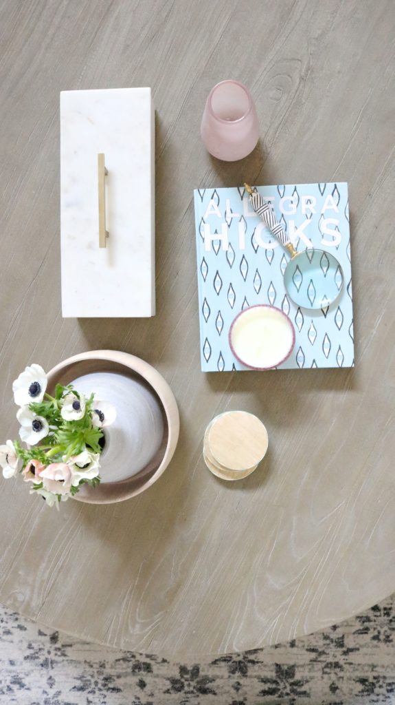 coffee table styling ideas. tips and tricks from a designer plus a full home tour!