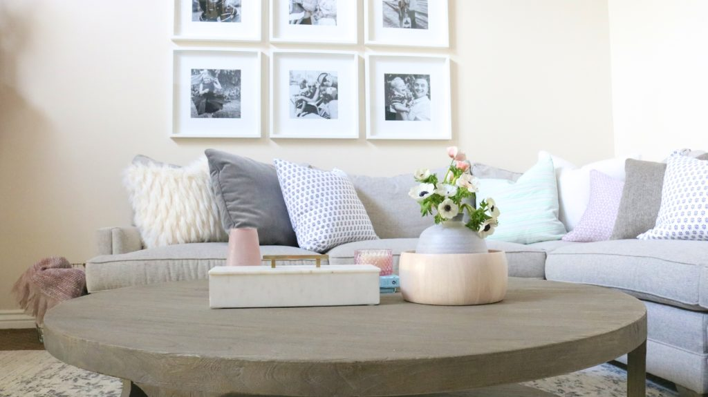 diy decor ideas from a designer. check out the full home tour! love that photo gallery wall with inexpensive ikea frames!