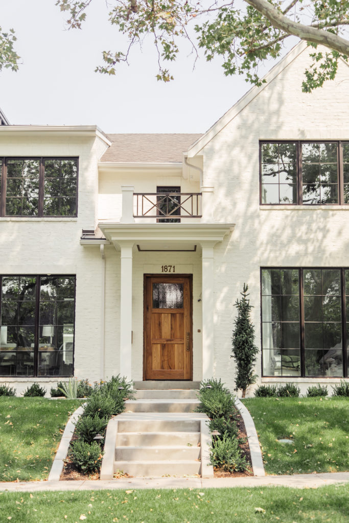 Best white exterior paint colors. Remodel with painted brick.