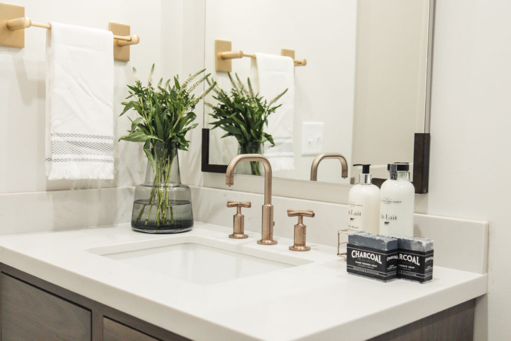 purist faucet in brushed brass finish