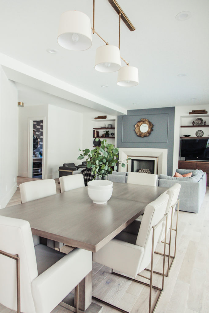 milo baughman chairs in dining room. love the fresh, modern but classic feel of this space