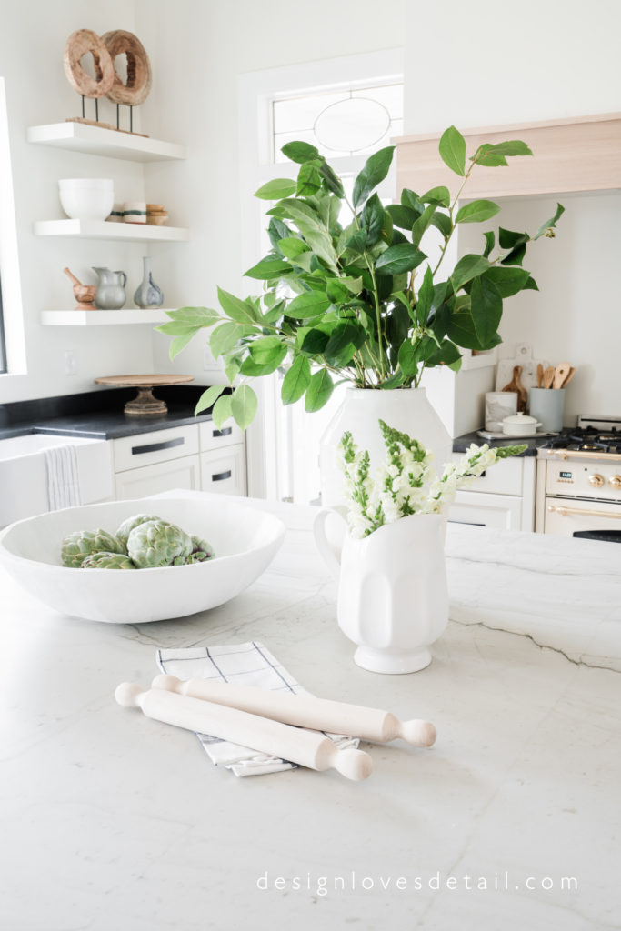 Gorgeous fresh greens in the kitchen