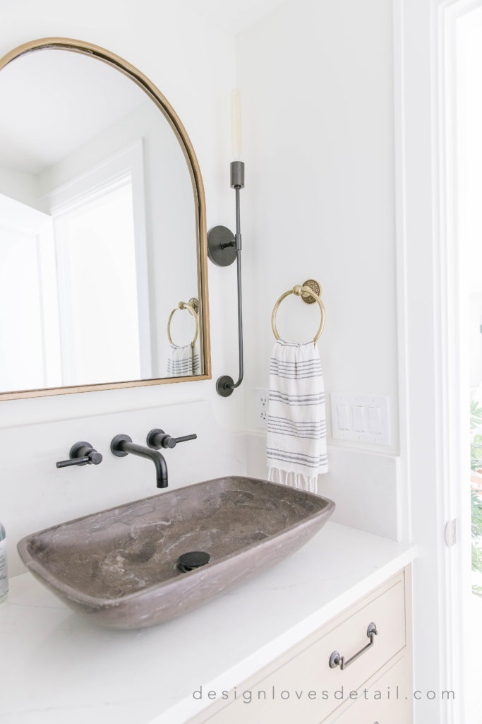 #EuropeanOrganicModern: Basement Half Bath Reveal ...
