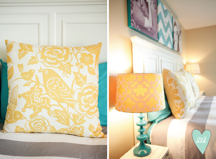Links With Teal And Yellow Bedroom Ideas